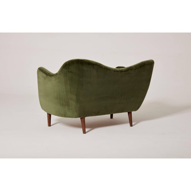 Finn Juhl Finn Juhl Curved Bo55 Sofa / Loveseat, Bovirke, Denmark, 1940s/50s For Sale - Image 4 of 6