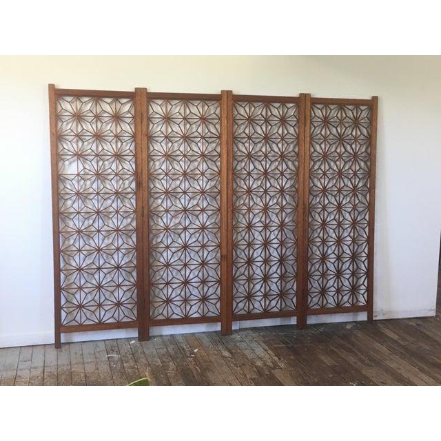 Mid Century Danish Teak Room Divider For Sale - Image 4 of 7