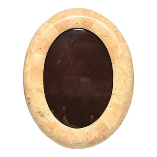 Vintage Tessellated Stone Oval Picture Frame