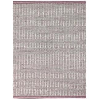 Loft Modern Pink Flat-Weave Rug 3'x5' For Sale