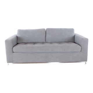 Mid Century Modern Style Article Gray Upholstered Sofa Bed For Sale