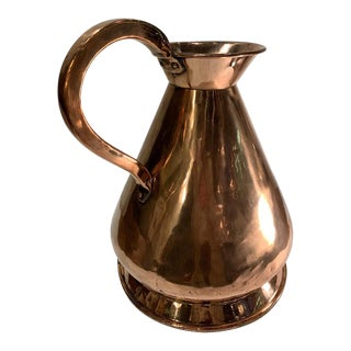 "Antique English Copper 'Haystack"" Pitcher For Sale"