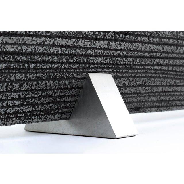 Aluminum Solid Aluminum Brutalist Candelabras For Sale - Image 7 of 7