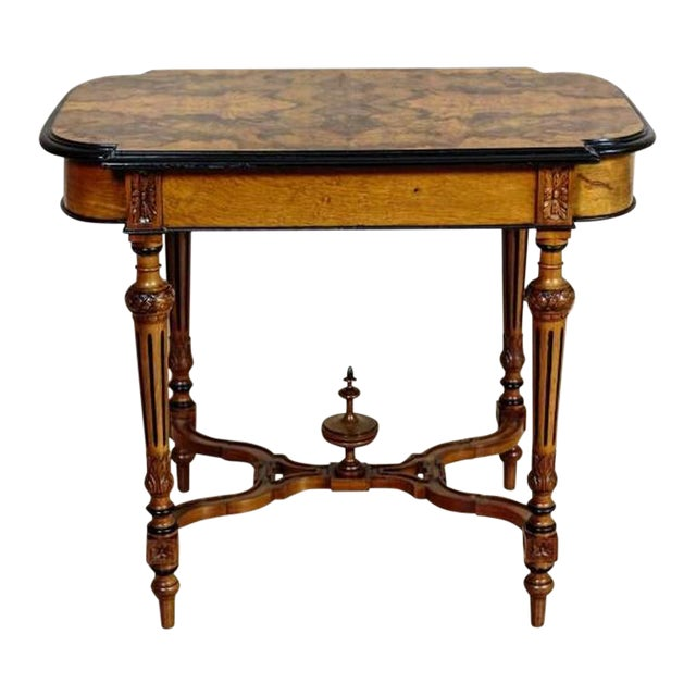 19th Century Eclectic Walnut Small Table For Sale