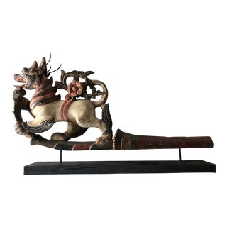Indonesian Carved Ox Cart Ornament For Sale
