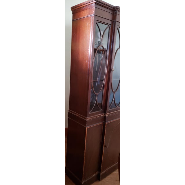 Early 20th Century 20th Century Gothic Mahogany China Cabinet For Sale - Image 5 of 12