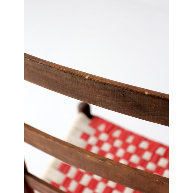 Ladder Back Chair with Woven Fabric Seat - Image 9 of 9