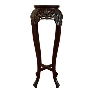 1970s Vintage Rosewood Oriental Pedestal or Stand For Sale