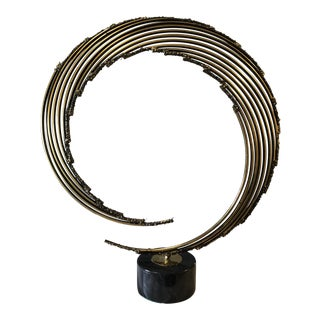 1970s Mid Century Modern Curtist Jere Style Swirl Sculpture For Sale