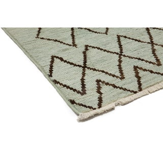 Green Moroccan Tribal Rug Preview