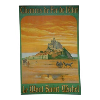 1922 Mont St Michel Poster For Sale