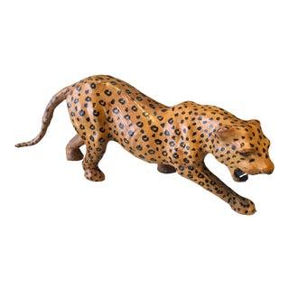 Vintage Indian Leather Tiger For Sale