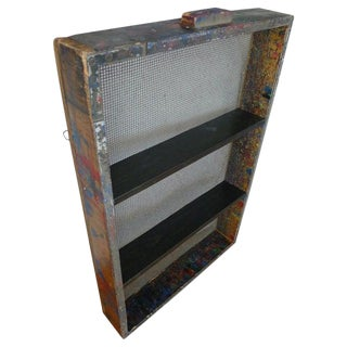 Shelving Unit From Factory Paint Box. Wall Mounted Cupboard, Cabinet, Shelves For Sale