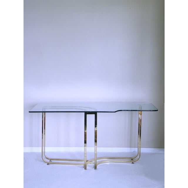 Mastercraft 1980s Hollywood Regency Sculptural Brass Console Table For Sale - Image 4 of 7
