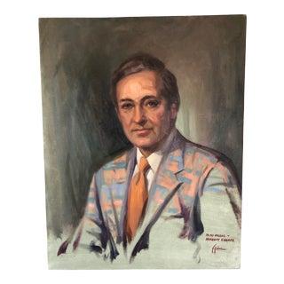 Mid Century Stanley Gordon Oil Portrait For Sale