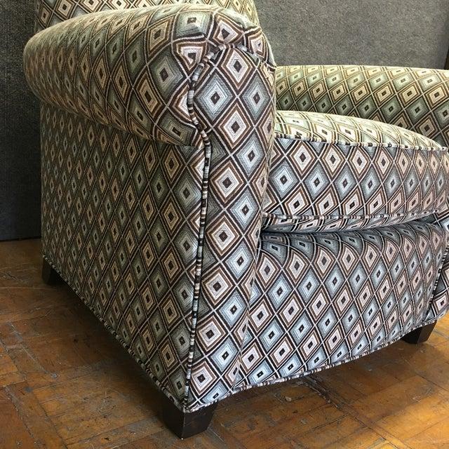 Ethan Allen Diamond Upholstered Sofa Chair - Image 5 of 7