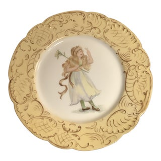 Haviland & Co. Limoges Hand Painted Fairy Plate For Sale