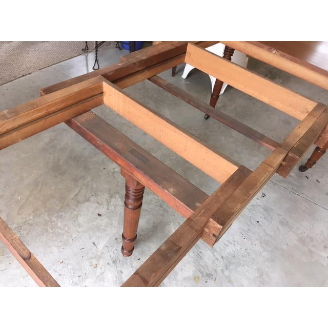 Antique Walnut Dining Table With Leaves For Sale In Louisville - Image 6 of 13