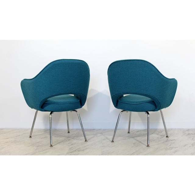 Knoll Mid Century Modern Saarinen Knoll Sculptural Executive Office Chairs 1960s - A Pair For Sale - Image 4 of 7
