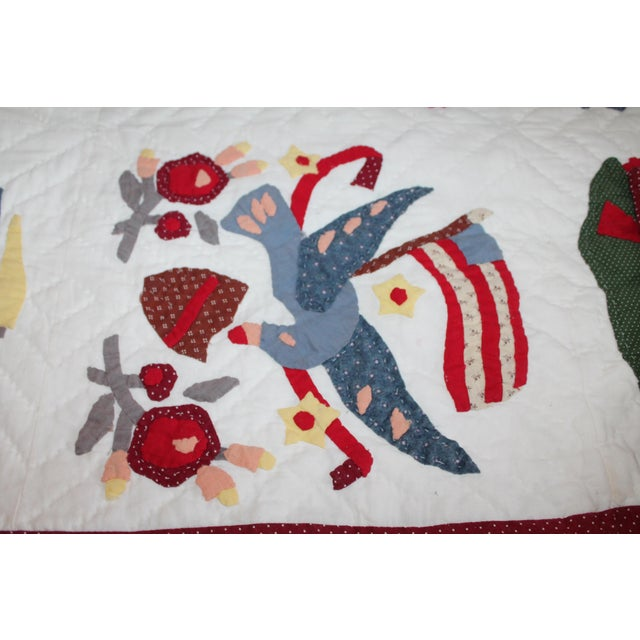 20th Century Hand Made Repro Applique Quilt - Image 7 of 8