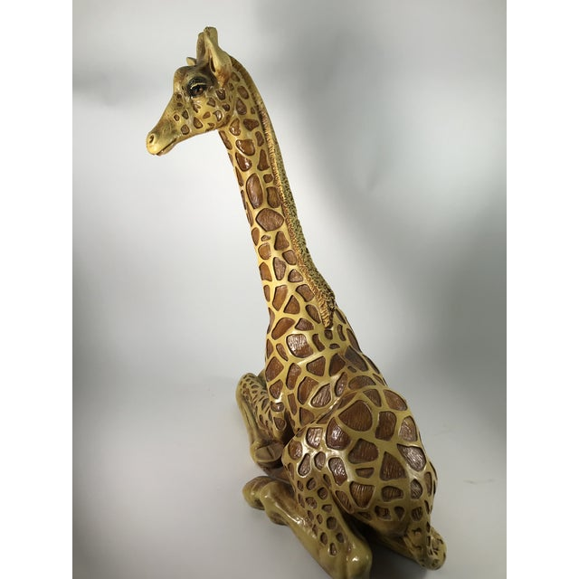 1970s Vintage Marwal Chalkware Giraffe Sculpture For Sale - Image 4 of 13