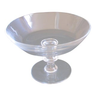 Val Saint-Lambert Stemmed Crystal Fruit Bowl For Sale