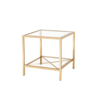Blink Home Antique Gold End Table
