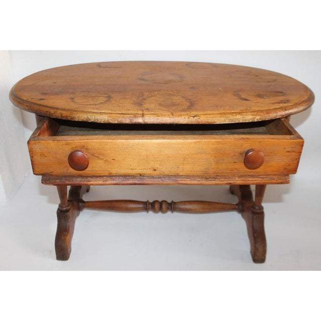 19th Century 19th Century Pine Oval Coffee/Side Table For Sale - Image 5 of 9