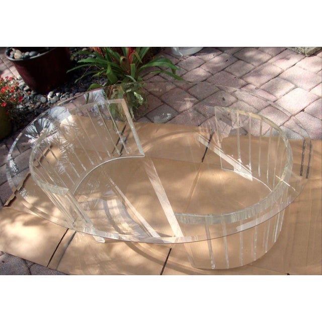Mid-Century Lucite Coffee Table Bases - A Pair - Image 8 of 9
