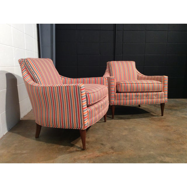 Boho Chic Mid Century Low Back Lounge Chairs - a Pair For Sale - Image 3 of 11