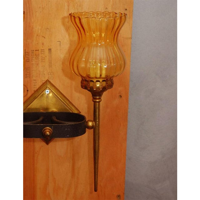 English Traditional Two Light Sconces - A Pair For Sale - Image 3 of 8