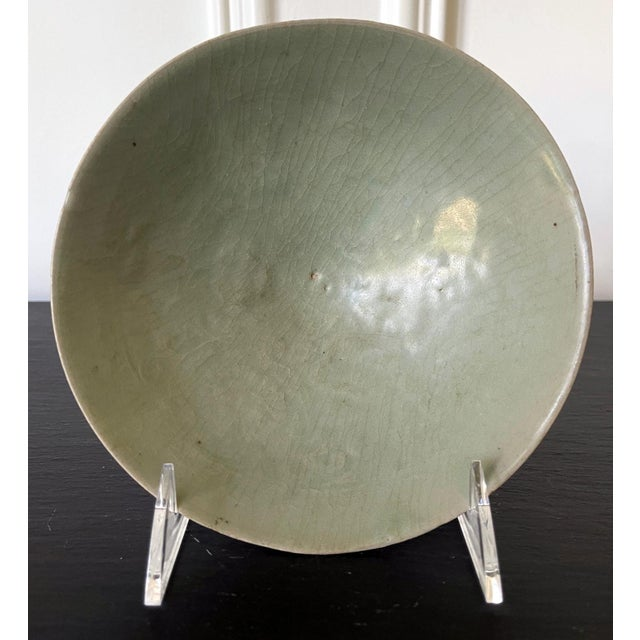 Celadon Celadon Ceramic Tea Bowl Korean Goryeo Dynasty For Sale - Image 8 of 13