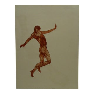 """Limited Edition """"The Masculin Dancer"""" Print Signed by Ivan Valtchew"""