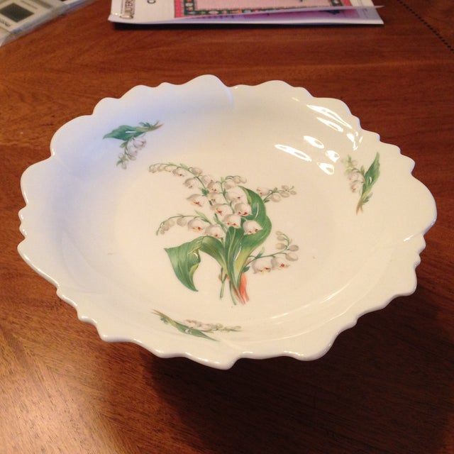 Limoges Lily of the Valley Pedestal Bowl - Image 3 of 8