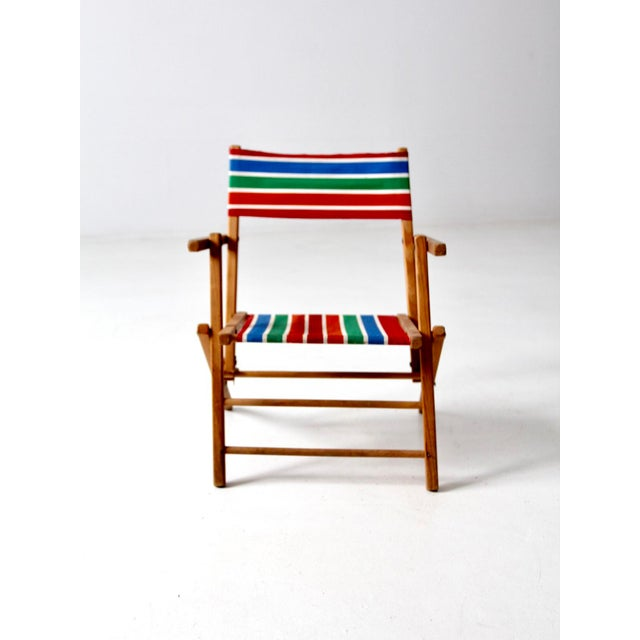Mid-Century Kid's Folding Chair For Sale - Image 4 of 10