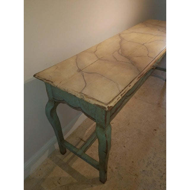 French 1990s French Country Nierman Weeks Console For Sale - Image 3 of 7