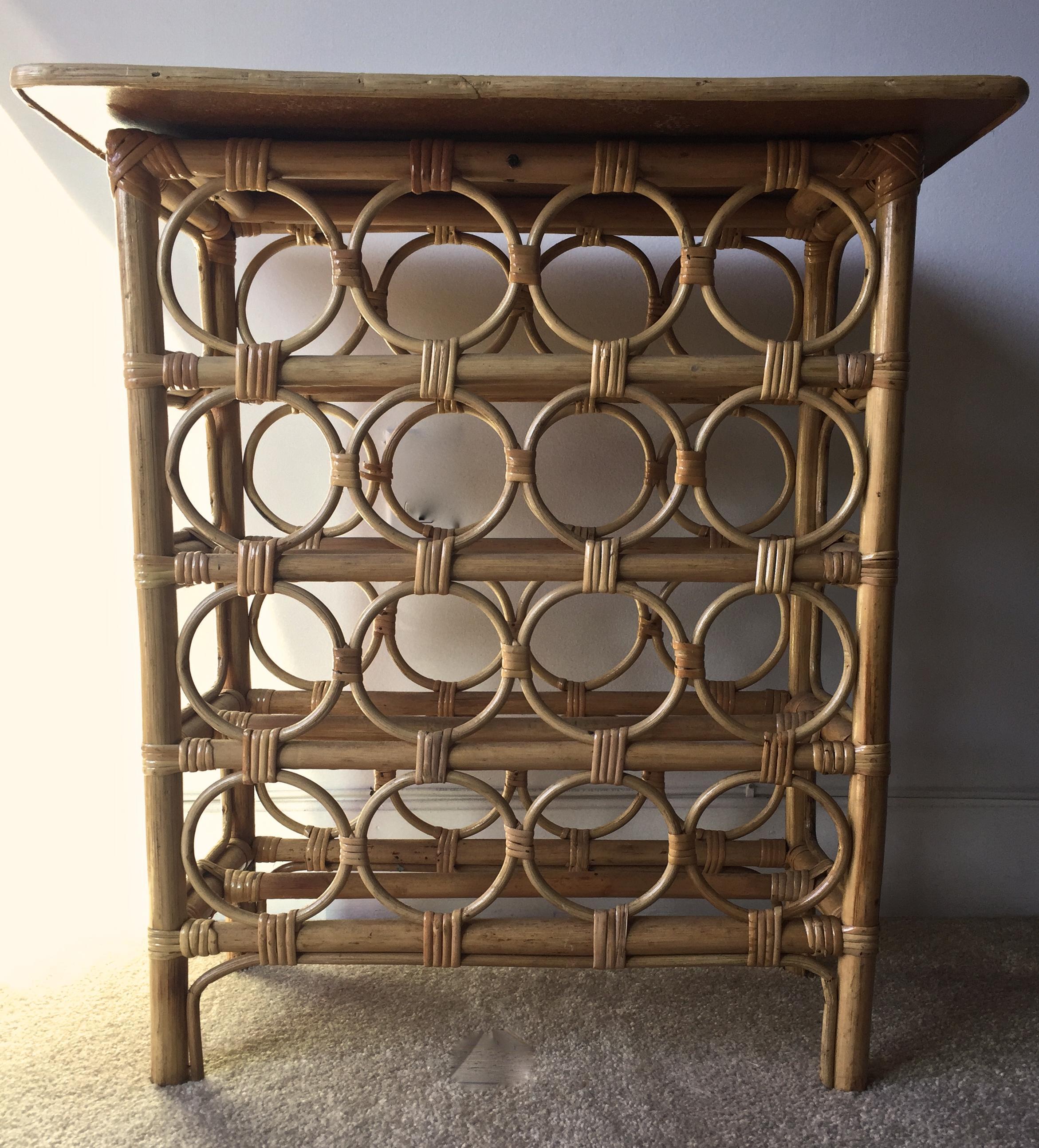 Wine Rack Bar. Wine Rack Bar. Bamboo Rattan Bar Table   Image 3 Of