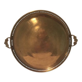 Brass Tray - Round, Mid-Century For Sale