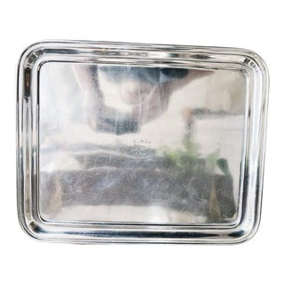 Christofle Silver Serving Tray From Hotel Plaza Biarritz For Sale
