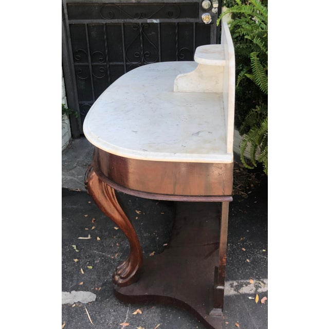 Antique Victorian Mahogany Dry Sink Bar For Sale - Image 4 of 6