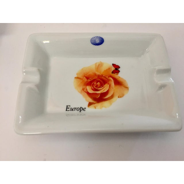 Vintage Laufen Pillivuyt, France Collector Porcelain Ashtrays - Set of 6 For Sale In Los Angeles - Image 6 of 12