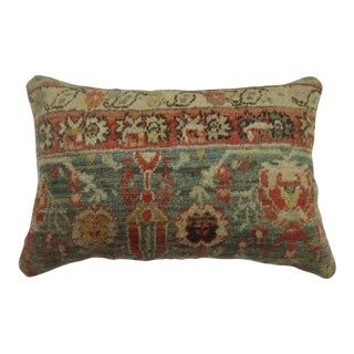 Antique Oushak Rug Pillow For Sale