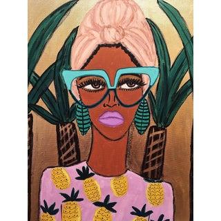 Tropical Fashionista II Painting