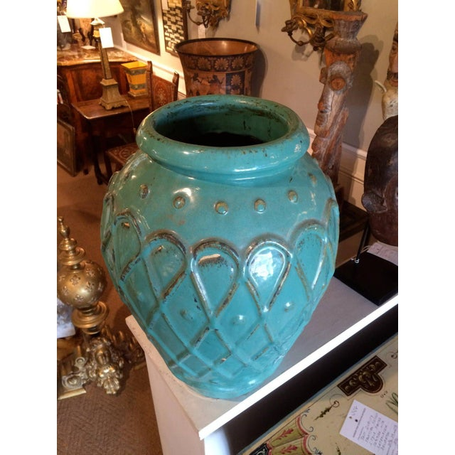 Turquoise Turquoise Glaze Jar by Galloway For Sale - Image 8 of 9