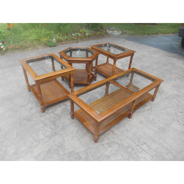 1960's Four Piece Matching Living / Rec Room Coffee Table Set made in the USA. This is a beautiful set in excellent...