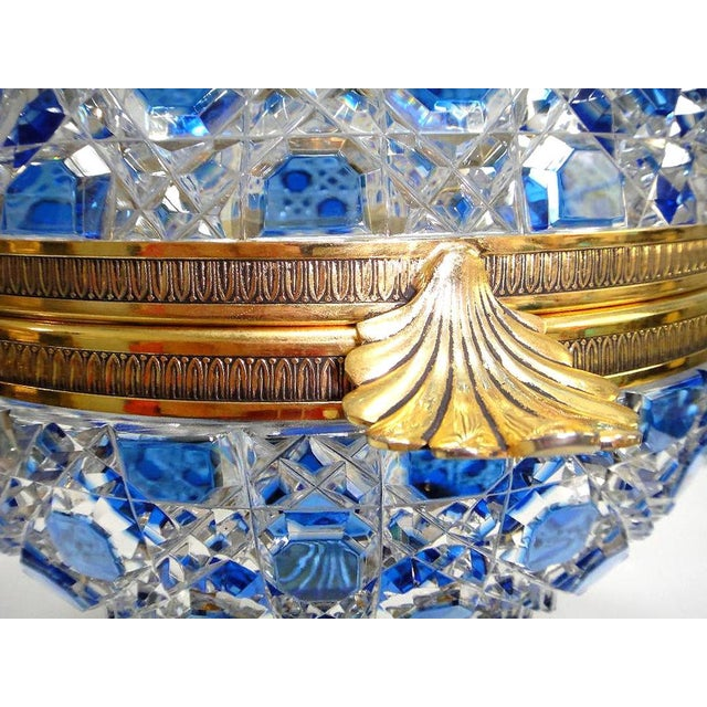 Aesthetic Movement Monumental Crystal and 24k Caviar Bowl by Cristal Benito For Sale - Image 3 of 13