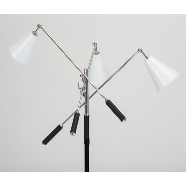 Mid-Century Modern Three-Arm Italian Modernist Floor Lamp With Marble Base For Sale - Image 3 of 13