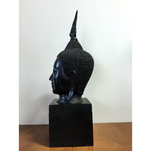 Extra Large Buddha Head Sculpture For Sale - Image 4 of 11