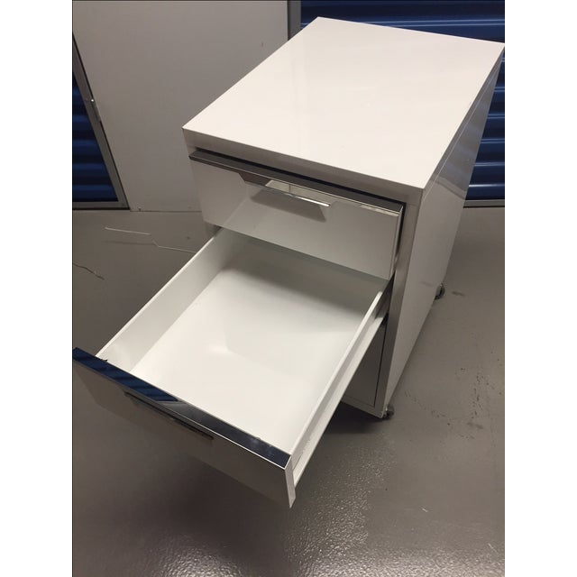 CB2 White Filing Cabinet - Image 4 of 4