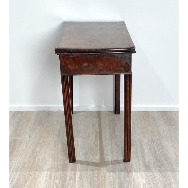 18th Century English Mahogany Game Table For Sale - Image 9 of 10